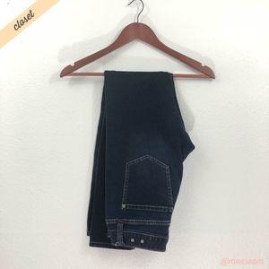 [CAbi] Dark Low Rise Ink Ruby Skinny Jeans